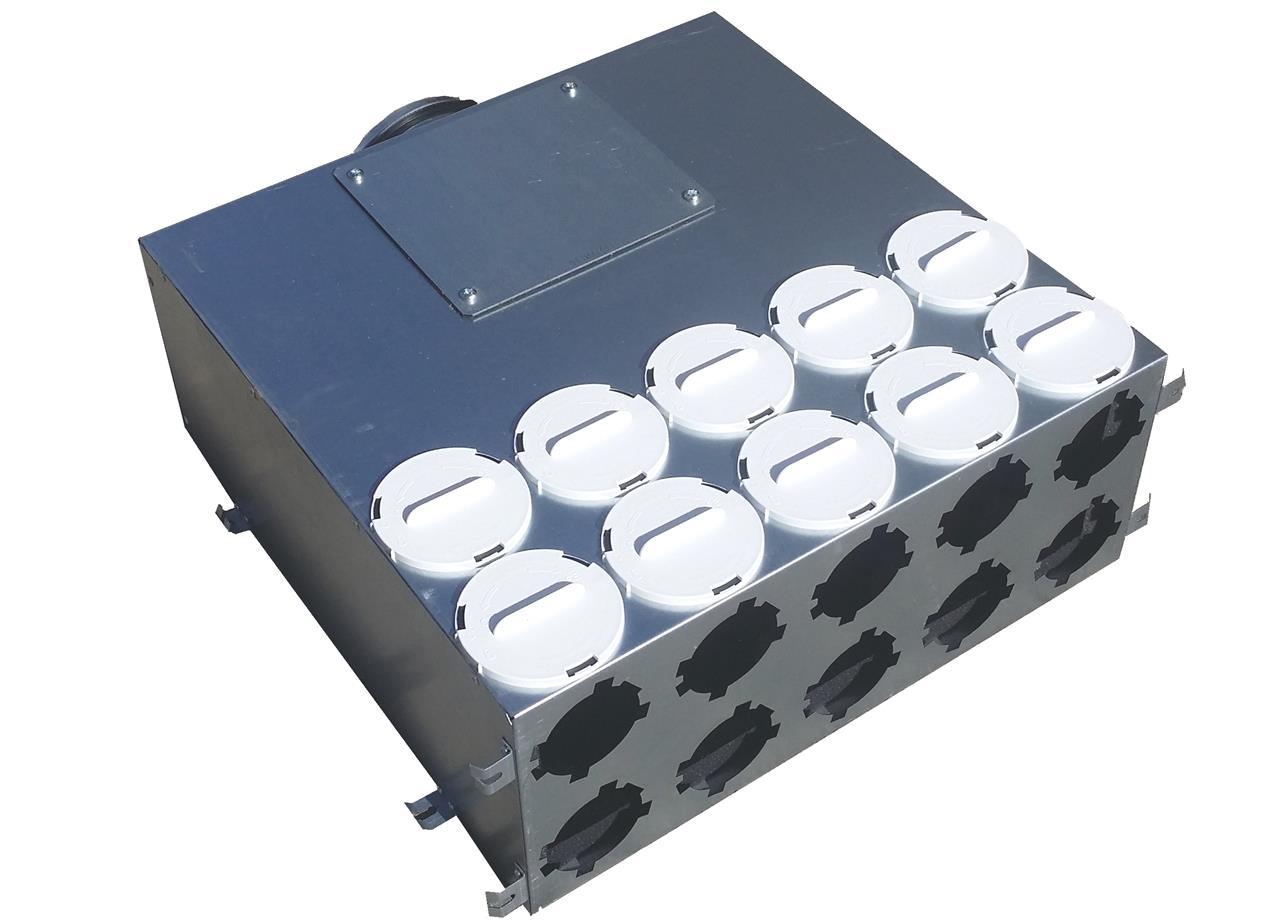 Verteiler 160-75-20 mit Gummilippendichtung DN160